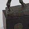 Maud von rosen, sculpture, bronze, signed.