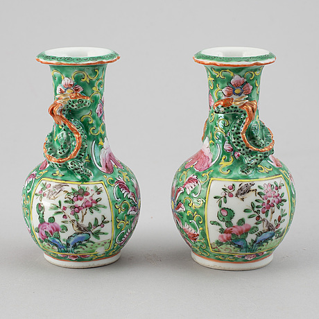 A group of six chinese porcelain objects, qing dynasty and later, 18th-20th century.