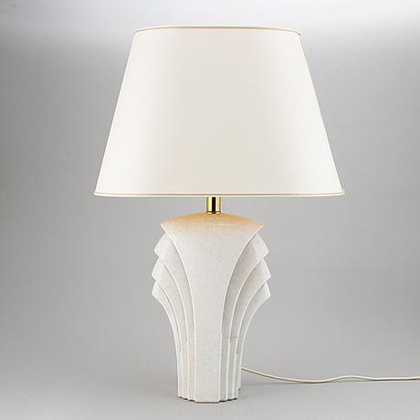 Bordslampor, ett par, keramik, 1980-tal.