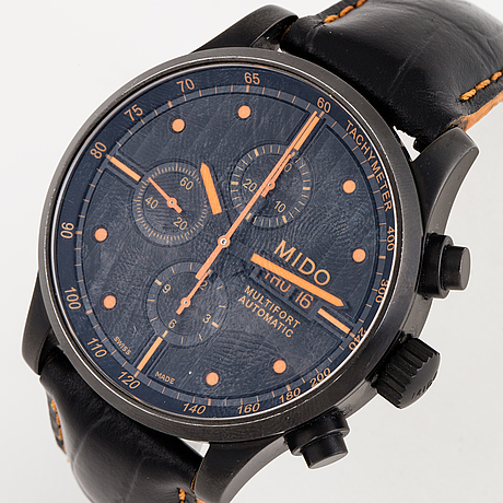 Mido, multifort, wristwatch, chronograph, 44 mm.