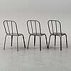Horsens nordal, a set of 10 metal chairs.