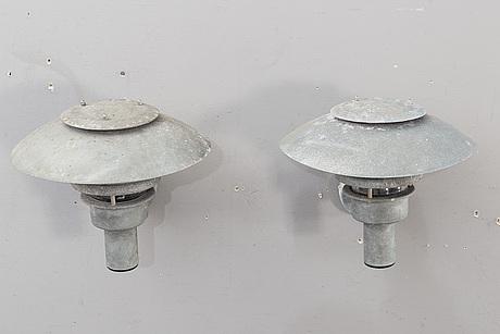 VÄgglampor ett par formlight sent 1900-tal.