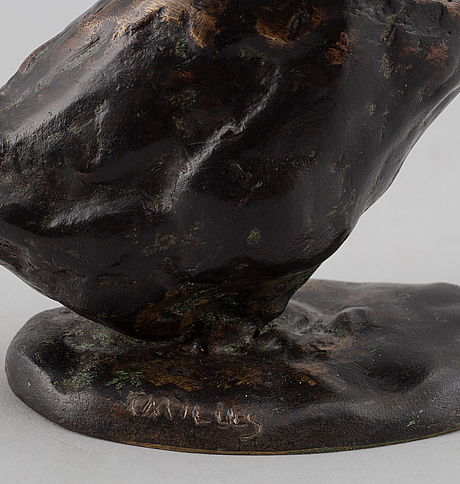 Carl milles, sculpture. signed. bronze, height 18.5 cm.