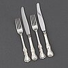 A set of silver flatware, 12 sandwich forks + 12 sandwich knives, model prins albert, gab, stockholm, 1970s.