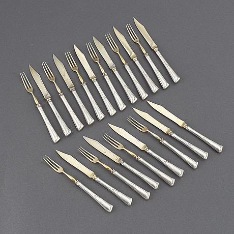 10+11 silver cutlery, cg hallberg stockholm 1907, jm johansson göteborg 1936.