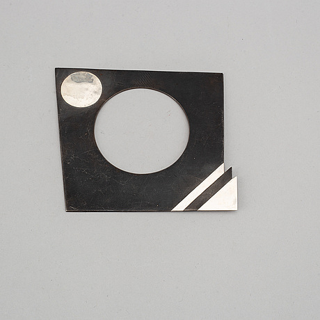 Birgitta sanitate, a sterling silver bracelet. falun, last quarter of the 20th century.
