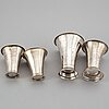 A mixed lot of four swedish silver beakers, 1797-1818.