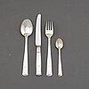 "Jacob Ängman, a 36-piece silver flatware service, model ""rosenholm"", gab, stockholm, 1950s."