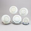 Eight blue and white and famille rose dishes, qing dynasty, qianlong (1736-95).