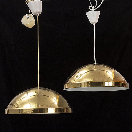 A pair of ceiling lamps, bergboms, second half of 1900's.
