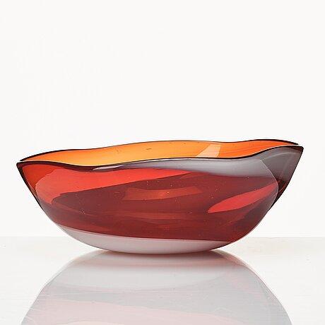 Venini, a glass bowl, italy 1950-60's.
