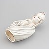 Rudolf knörlein, figurin, keramik. goldscheider, Österrike, formgiven omkring 1935.