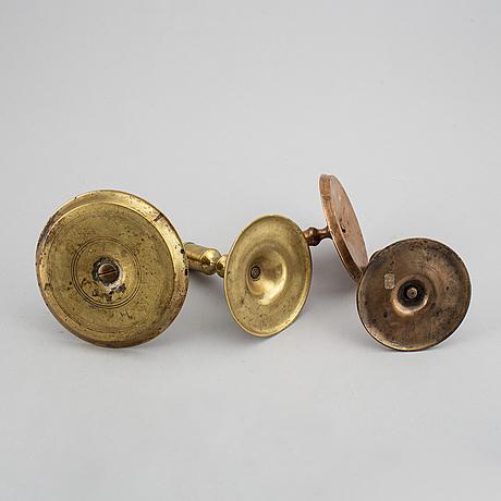 Ljusstakar, 4 st olika modeller, 1700-/1800-tal.
