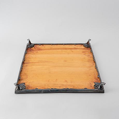 Bordsplateau, nysilver, 3 delar. 1900-tal.