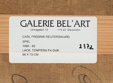 "Carl fredrik reuterswärd, ""spel""."