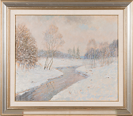 Olavi hurmerinta, oil on canvas, signed and dated -90.