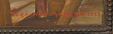 Eero nelimarkka, olja på duk, signerad och daterad -33.