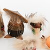 Helena kuuskoski, a set of ten 'troll' dolls for atelier fauni.