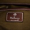 Mulberry, a canvas and leather bag.
