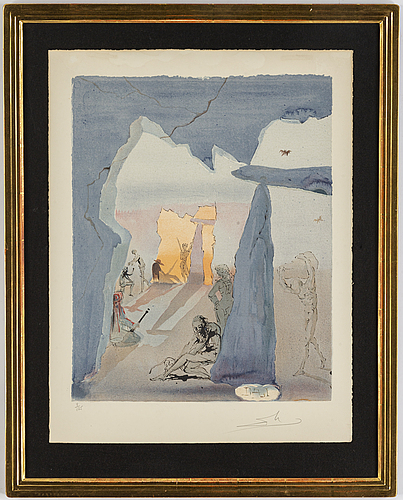 Salvador dali, lithograph in colors, signed and numbered 8/125.