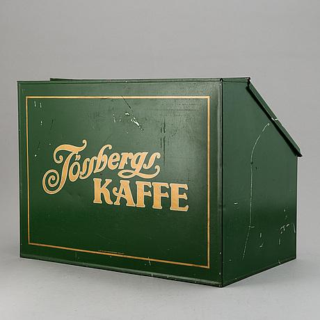 PlÅtlÅda, tössbergs kaffe, ca 1900-talets första hälft/mitt.