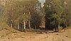 Arseny ivanovich meschersky, forest path.