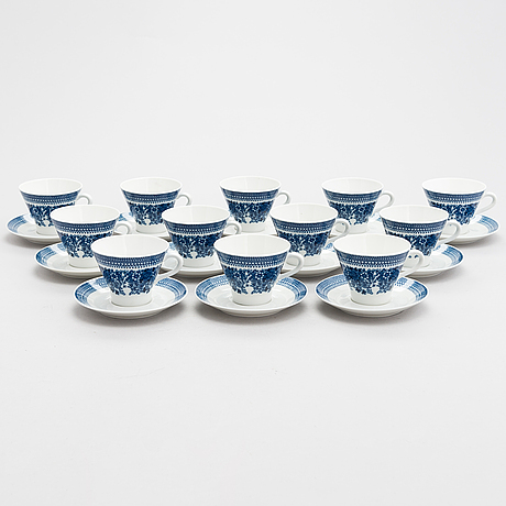 A set of 12 coffee cups 'elisabet' from 50/60's by arabia, finland.