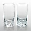 BjÖrn weckstrÖm, a set of 9 long drink glasses 'himalaja' for nuutajärvi 1977-1995.