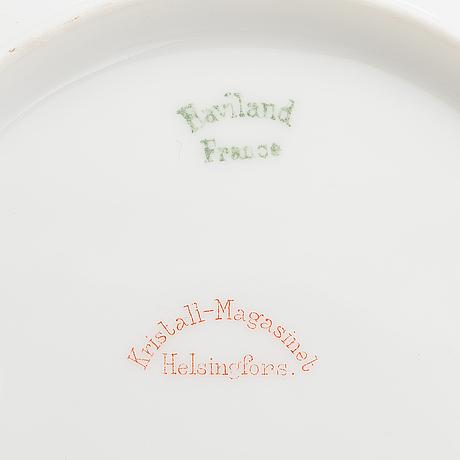 A porcelain coffee set in 11 pcs by haviland & co, limoges, france.