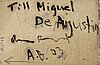 Andreas blomquist, olja på duk, a tergo signerad och daterad 03.