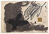 Antoni tÀpies, a signed and numbered etching.