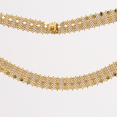 Gold necklace , italy, 18k gold, 58,1 g.