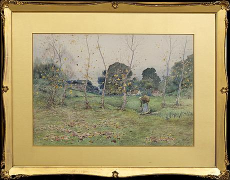 Edward frederick ertz, watercolor, signed.