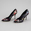Dolce & gabbana, a pair of high heel 'space robot' shoes, size 38½.