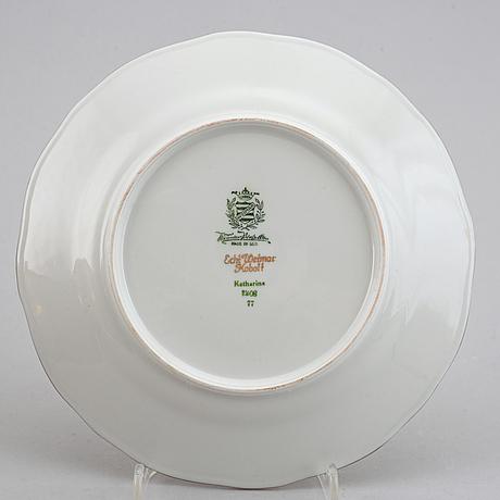 A german dinner service, 20th century.