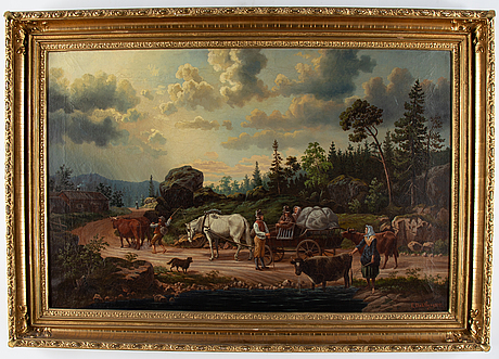 Unknown artist, oil on canvas, siugned e., dahlberg and dated 1881.