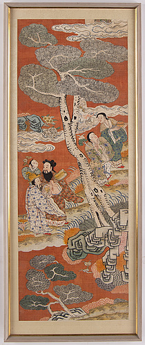 A chinese painting by an unknown artist, 20th century. purchased at svenskt tenn.