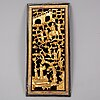 A carved and gilt wooden pane, late qing dynasty, 19th century.