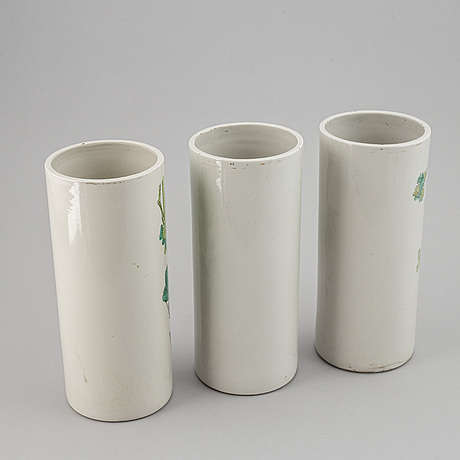 A set of three chinese vases, 20th century.