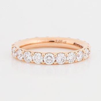 RING, allians med briljantslipade diamanter 2,05 ct.