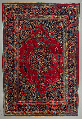 Matto, semi-antique, mashad, ca 376,5 x 250 cm.