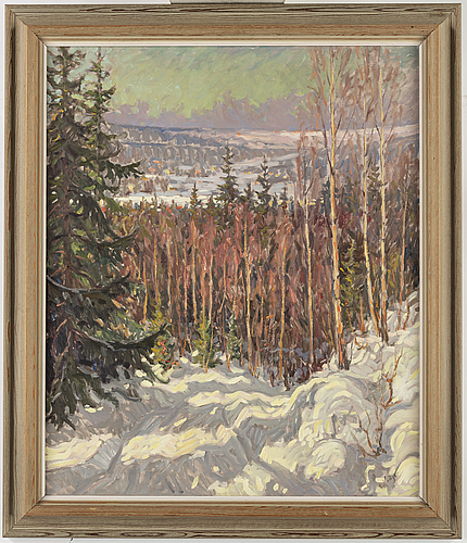 Einar krÜger, oil on canvas, signed.