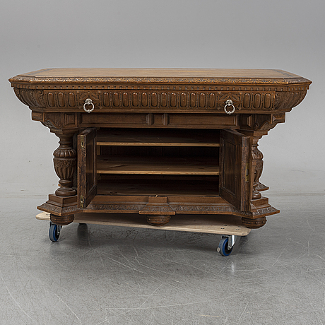 Biblioteksbord, nyrenässans,  1890-tal.