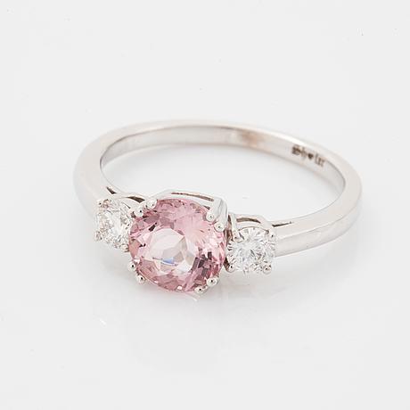 Morganite and diamond ring.