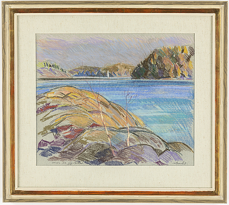 Roland svensson, pastel, signed and dated 1953.