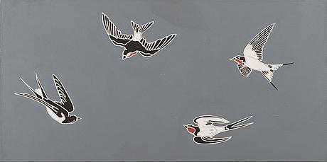 """Osmo rauhala, """"swallows""""."""