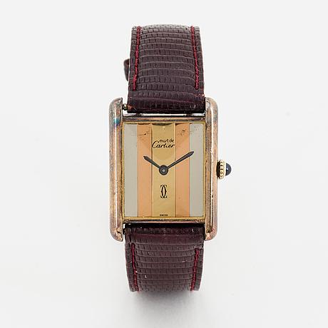 Must de cartier, tank, wristwatch, 23 x 30 mm.
