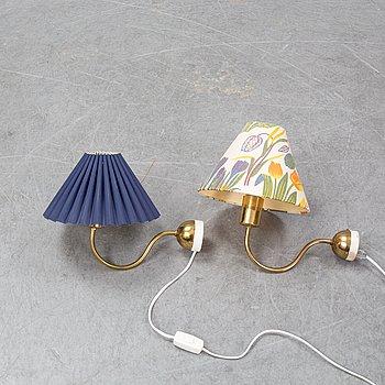 Josef Frank, a pair of model 2334 wall lamps and model 2162, Firma Svenskt Tenn.