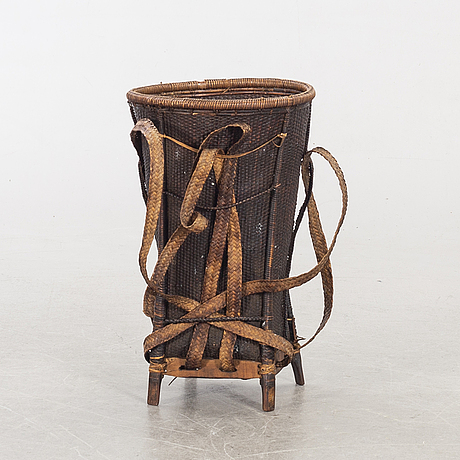 A late 19th century vietnamese basket.