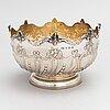 A sterling silver bowl, mark of elkington & co, birmingham 1909. marked a. tillander.